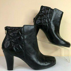 Aerosoles  Sweetrole Black Faux Leather Boots